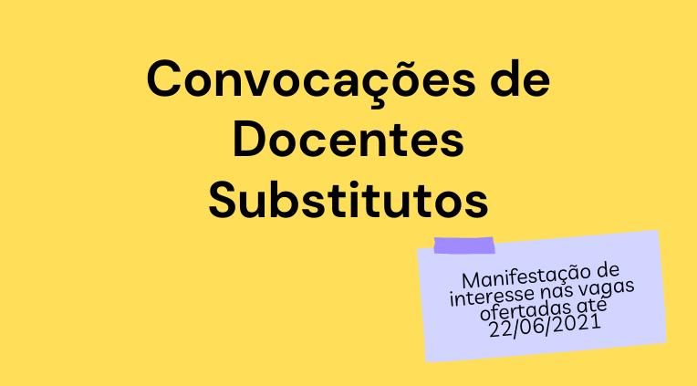 Convocações de Docentes Substitutos: aproveitamento de filas de editais vigentes