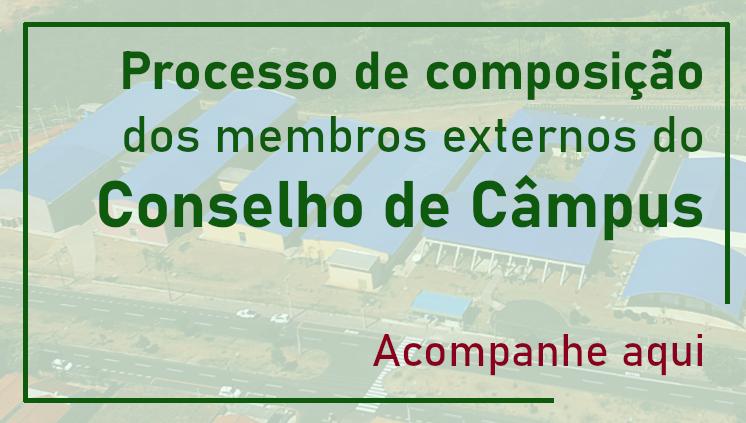 Composição dos Membros Externos do Conselho de Câmpus (indicação até 04/08)