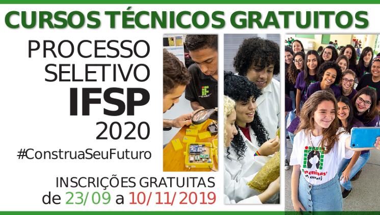 Processo Seletivo 2020: inscrições gratuitas a partir de 23/09